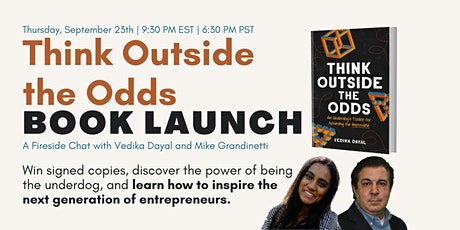 Think Outside the Odds Book Launch: Empowering Underdog Entrepreneurship tickets