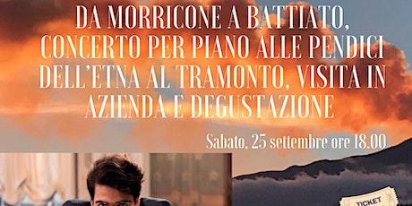 Da Morricone a Battiato, concerto per piano alle pendici dell'Etna + visita biglietti