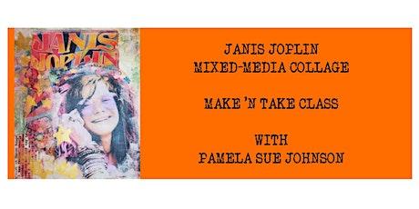 Janis Joplin Mixed-Media Collage tickets