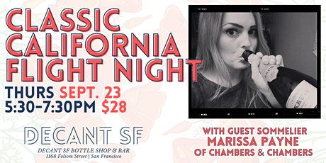 FLIGHT NIGHT at DECANTsf  - Classic Styles of CALIFORNIA tickets