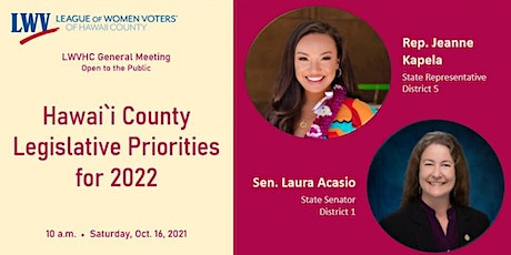 Perspectives on Hawai`i County Legislative Priorities for 2022 tickets