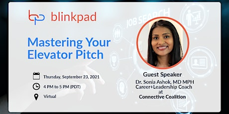 Mastering your elevator pitch! tickets