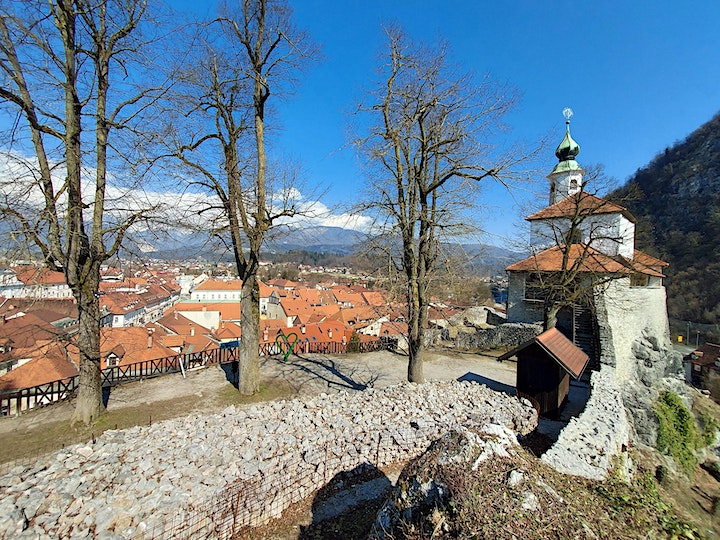 The hilly town of Kamnik, Slovenia image