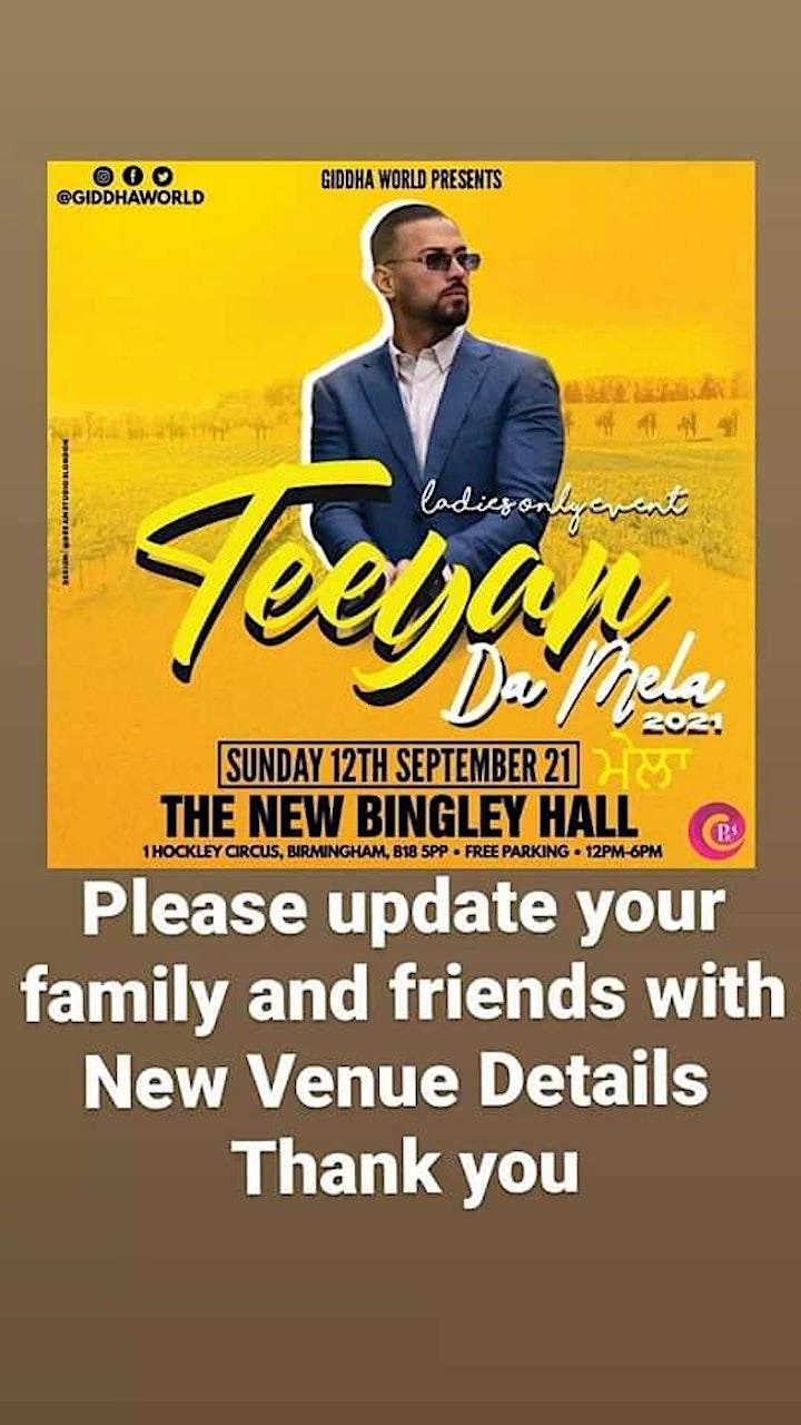 Venue Has Changed to BINGLEY HALL BIRMINGHAM