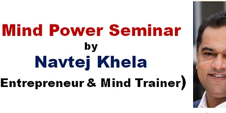 Mind Power Seminar to support Gift of Sight Charity tickets