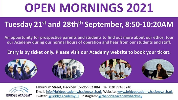 Open Mornings: 21st and 28th September 2021 image