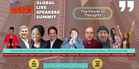 2021 Global Live Speakers Summit on The Power of Thoughts tickets