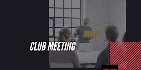 Club Meeting tickets