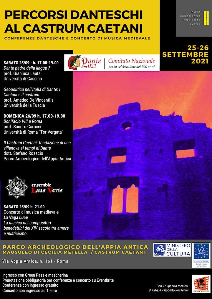 Immagine Percorsi danteschi al Castrum Caetani - Conferenze sabato 25/09/2021