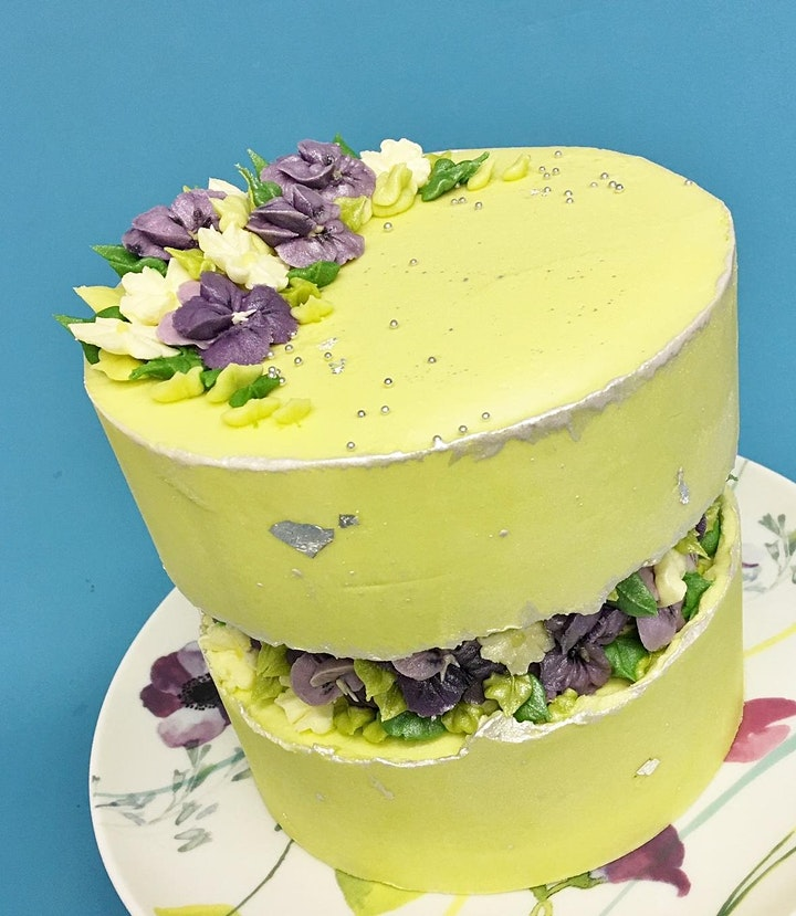 ONLINE CLASS - Fault Line Cake With Buttercream Piped Flowers image
