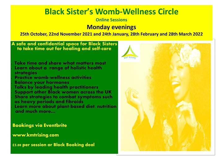 Black Sister's Womb-Wellness Online Circle image