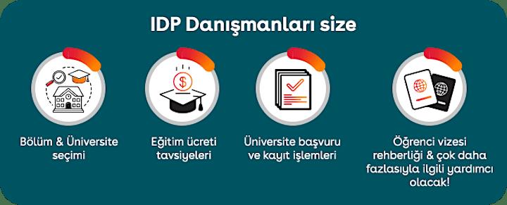 IDP Yurt Dışı Eğitim Online Fuarına Davetlisiniz image