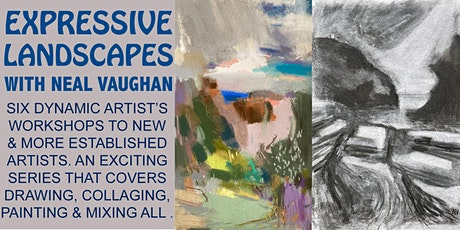Expressive Landscapes: Painting with collage tickets