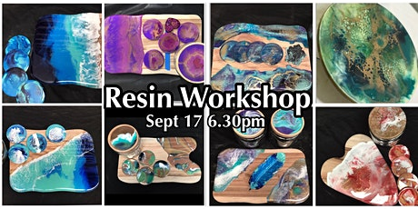 Resin Cheeseboard and Coaster or Lazy Susan Workshop tickets