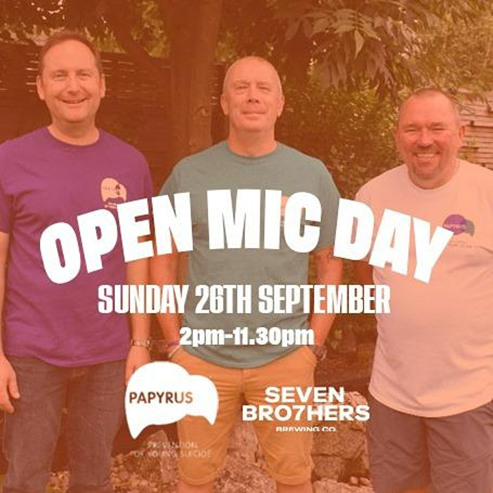 Open Mic Day in Support of Papyrus and 3 Dads Walking image