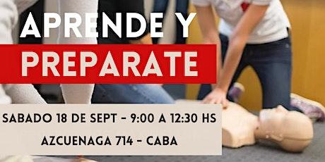 18.09 Curso de RCP y Primeros Auxilios - Presencial CABA entradas