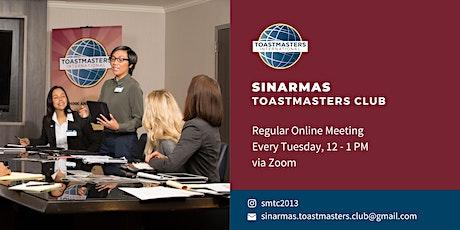 Sinarmas Toastmasters Club Regular Meeting billets