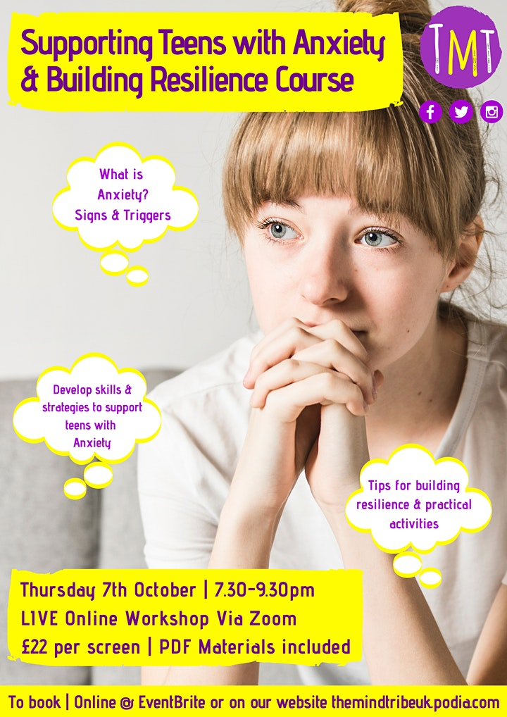 Supporting Teens with Anxiety & Building Resilience Course image