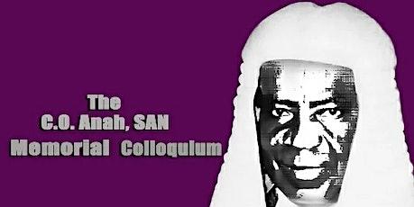 The C. O. Anah, SAN Memorial Colloquium tickets