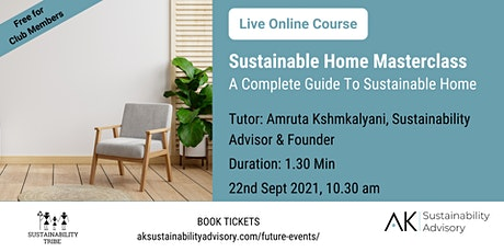 Sustainable Home Masterclass billets