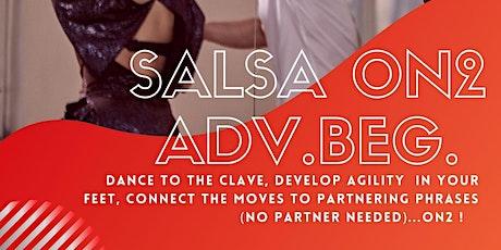 Beginner Salsa on2 Wednesdays 8pm SEPTEMBER tickets