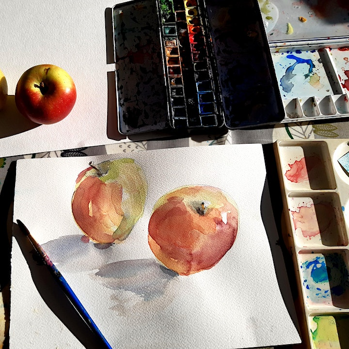"""""""Working with Watercolour """"- Online Art Workshop image"""