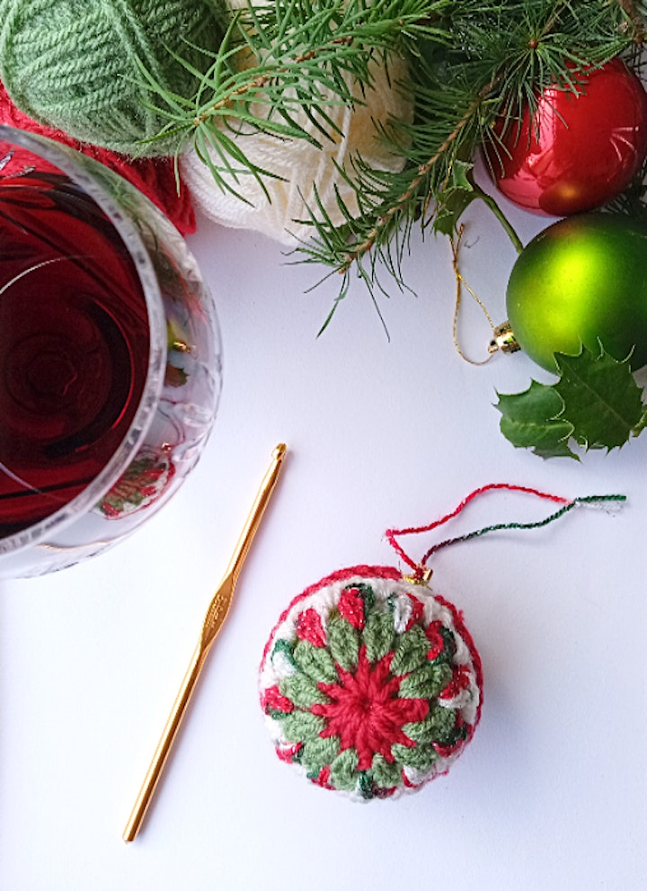 Crochet at Christmas - Granny Square Baubles image
