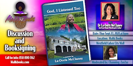 God, I Listened Too:  Discussion and Booksigning with Dr La-Doris McClaney tickets