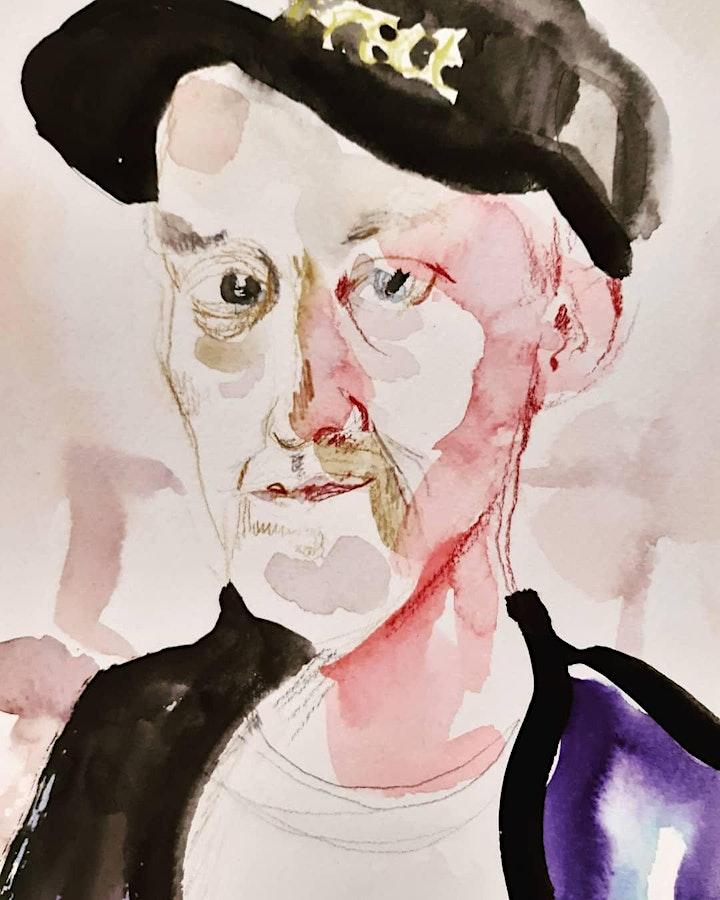 """""""Quick Watercolour Portraits""""- Online Art Workshop image"""
