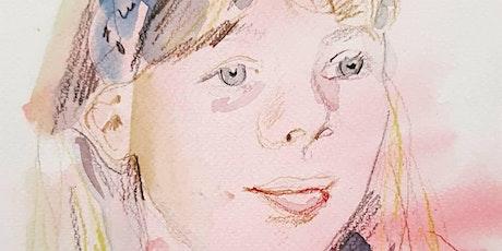"""""""Quick Watercolour Portraits""""- Online Art Workshop tickets"""
