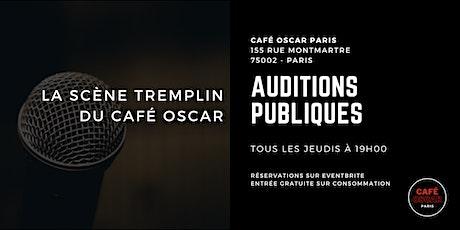 Standup : auditions publiques du café oscar billets