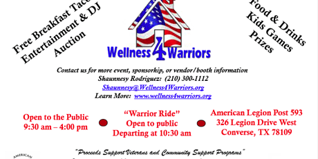Wellness 4 Warriors 6th Annual Expo! tickets