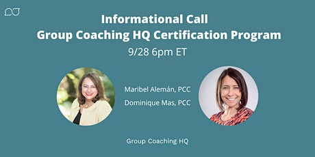 Informational Event : Group Coaching HQ 12-Week Certification Program tickets