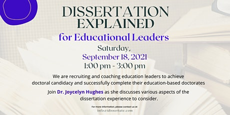 Dissertation Explained for Educational Leaders tickets
