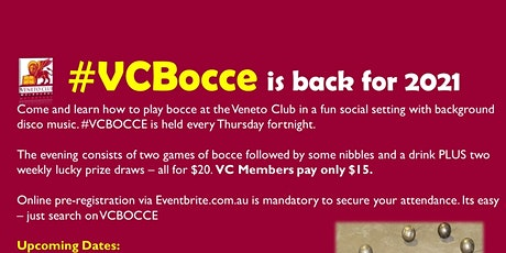 #VCBOCCE -14 October 2021 (#10-2021) tickets