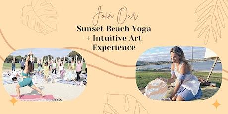 Sunset Beach Yoga + Intuitive Art Experience tickets
