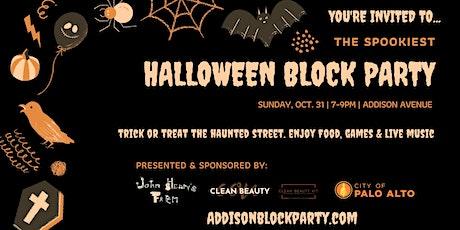 Halloween Block Party on Addison Avenue, Palo Alto tickets
