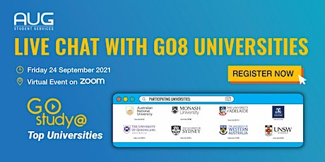 [AUG Sydney] Live Chat with Go8 Universities tickets