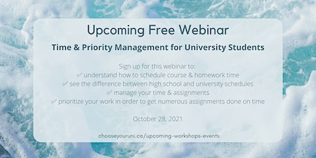 Time & Priority Management for University Students tickets