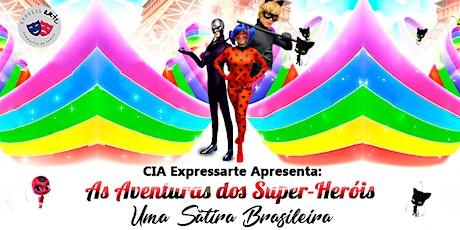 Desconto! As Aventuras dos Super-Heróis no Teatro Raposo ingressos