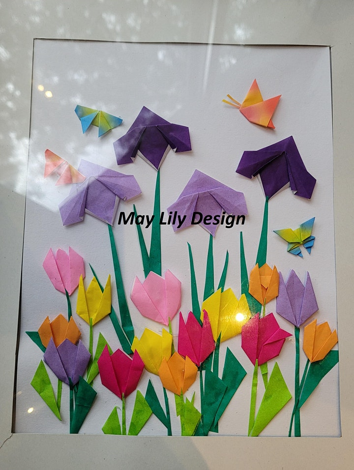 Origami Tulip Flower & Butterfly (TEEN/ADULT Paper Folding Craft Workshop) image