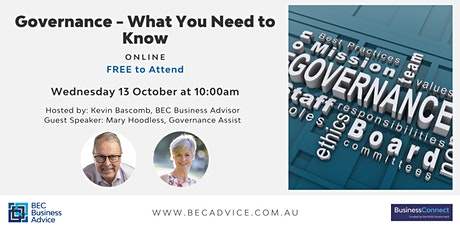 Governance - what you need to know tickets