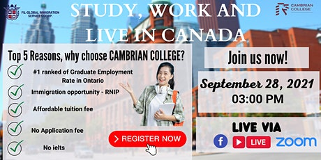 FREE WEBINAR: STUDY AND WORK IN CAMBRIAN COLLEGE tickets
