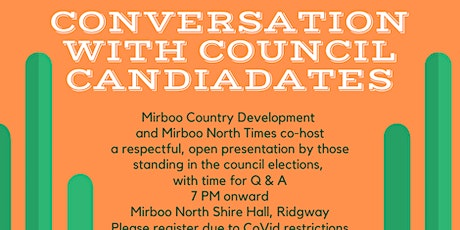Conversation with Council Candidates tickets