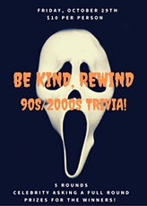 BE KIND, REWIND 90s/2000s Zoom Trivia, Halloween Style! tickets