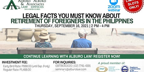 Legal Facts You Must Know about Retirement of Foreigners in the Philippines tickets