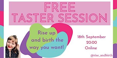 FREE Hypnobirthing taster session tickets