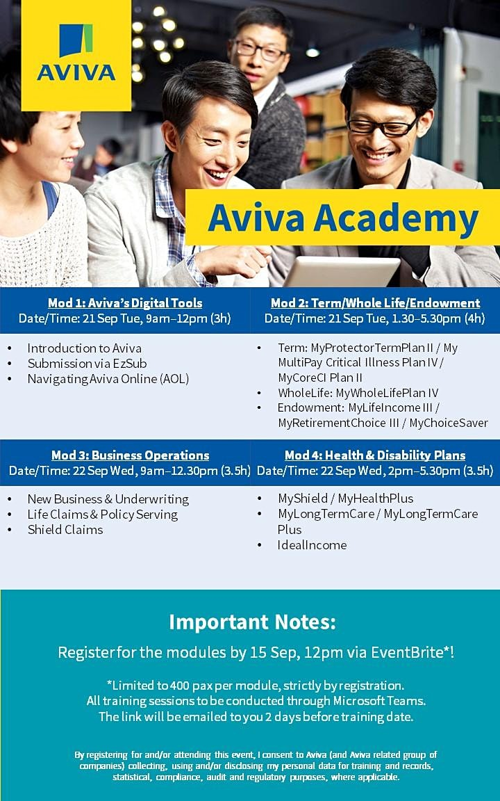 Aviva Academy (21 September 2021) Module 2 - Term/Whole Life/Endowment image
