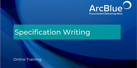 Specification Writing Online Training tickets