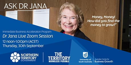 Ask Dr. Jana  - Where do you find the money for growth? tickets